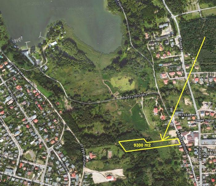 Mapa - działka budowlana przy ulicy Międzyzdrojskiej w Poznaniu