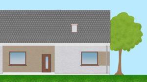 Dom parterowy bliźniak na sprzedaż - Borówiec