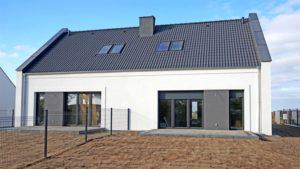 Nowe osiedle domów w zabudowie bliźniaczej w Tarnowie Podgórnym