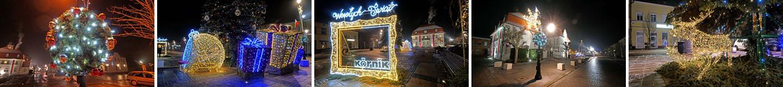 Wesołych Świąt - Iluminacja na rynku w Kórniku