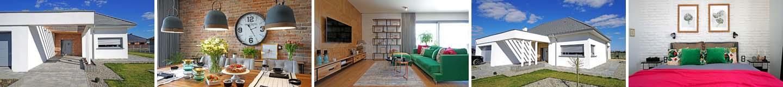 Dom parterowy 140 m2 - pomysły na kolory we wnętrzu