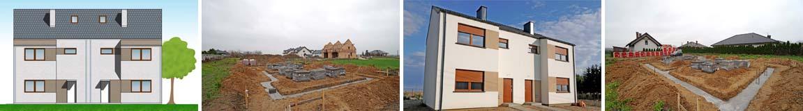 Nowy dom bliźniak z mieszkaniami 100 m2 - na sprzedaż w Wirach (gm. Komorniki)